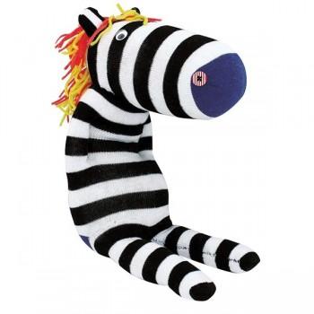 Lalki przytulanki ze skarpet - Zebra