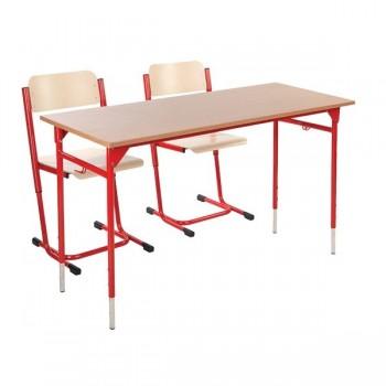 Komplet dla 24 uczni - Stolik PP + 2 krzesła PP - rozmiar 2 - 4