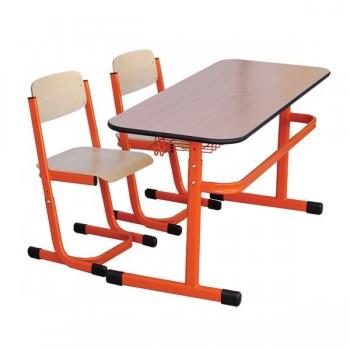 Komplet dla 24 uczniów - Stolik JJ + 2 Krzesła JJ - roz. 2-6