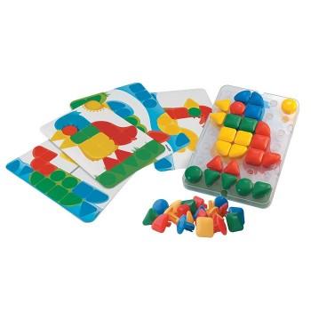 Mozaika kołki dla najmłodszych z planszami