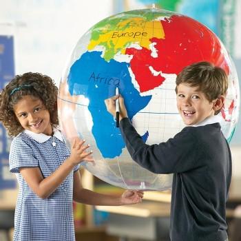 Globus - opisz kontynenty
