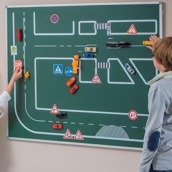 Tablica magnetyczna z zasadami ruchu drogowego