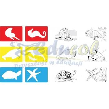 Szablony Zwierzęta morskie