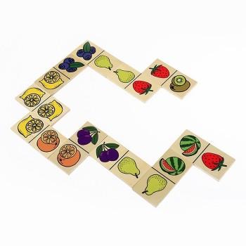 Domino w lnianym woreczku