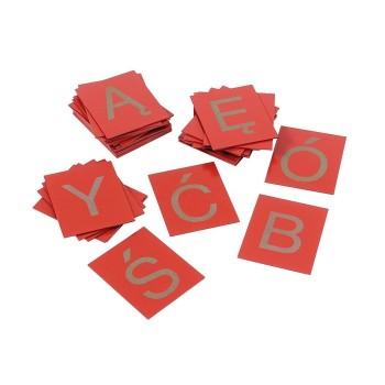 Duże litery – płytki dotykowe, zestaw
