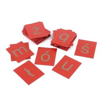 Małe litery – płytki dotykowe, zestaw