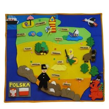 Mapa Polski - makatka