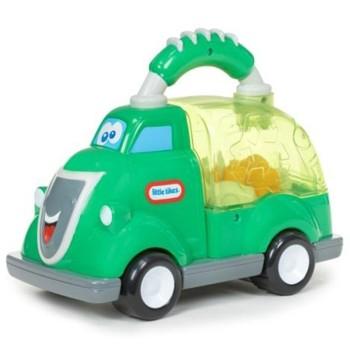 Śmieciarka z uchwytem - zielona