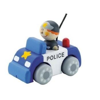 Samochodzik drewniany Policja