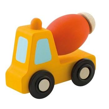 Pomarańczowa betoniarka z ruchomym elementem