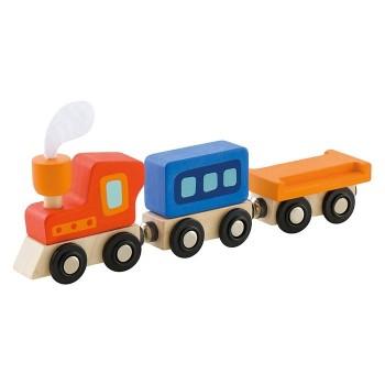 Kolorowy pociąg z magnetycznymi łączeniami