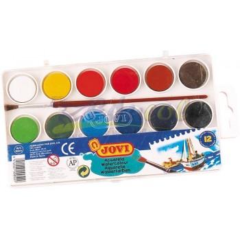 Farby akwarelowe 12 kolorów Jovi