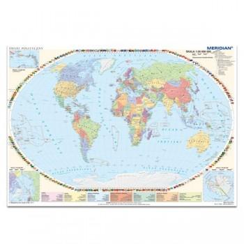 Ścienna mapa polityczna świata 160x120 cm