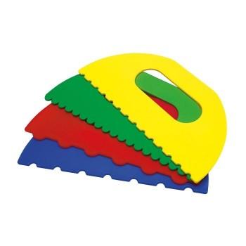 Szpachle z kształtami do farb - XXL
