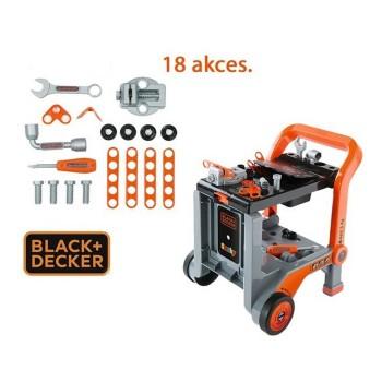 Smoby warsztat Black&Decker - wózek z narzędziami 24 akc.