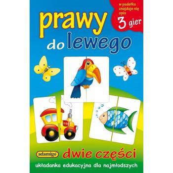 Prawy do lewego - 3 gry układanka edukacyjna dla najmłodszych Adamigo