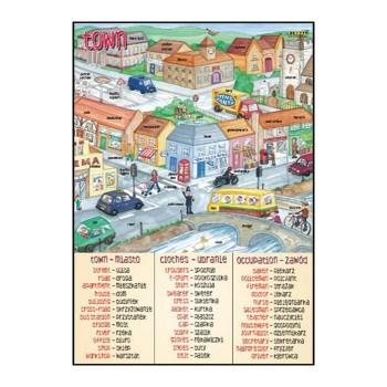 Plansze tematyczne - J. angielski - Town