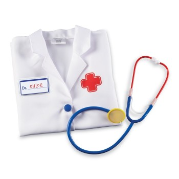 Fartuch lekarski + stetoskop