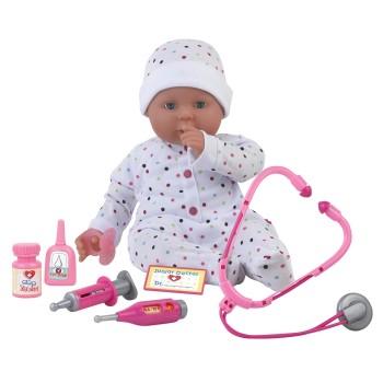 Lalka z akcesoriami lekarskimi