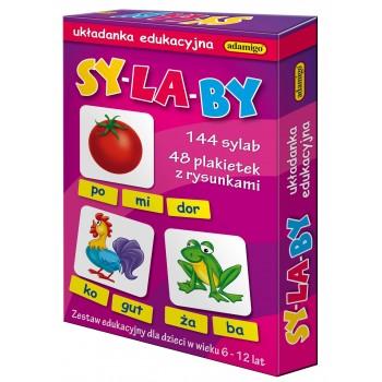 Sy-la-by 144 sylab - układanka edukacyjna Adamigo