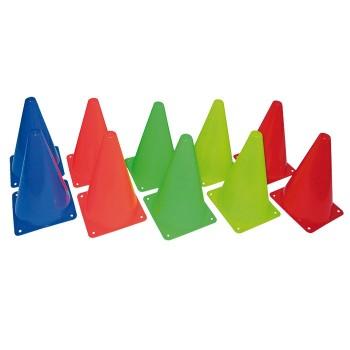 Pachołki  23 cm  10 sztuk w 5 kolorach- 2 x 5 kolorów
