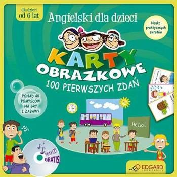 Angielski dla dzieci - Karty obrazkowe - 100 pierwszych zdań