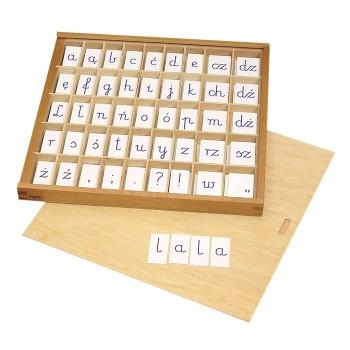Litery pisane - małe