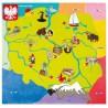Makatka elektrostatyczna z mapa Polski