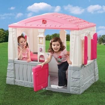 Domek z podłogą różowy