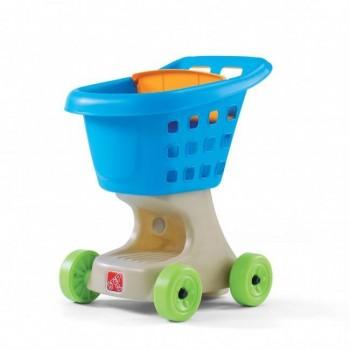 Wózek na zakupy niebieski