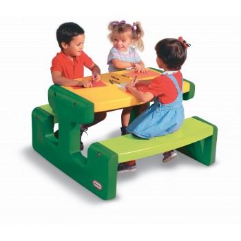Duży stół - stolik piknikowy zielono-żółty Little Tikes