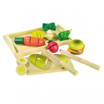 Dzielone warzywa i owoce 12 elementów