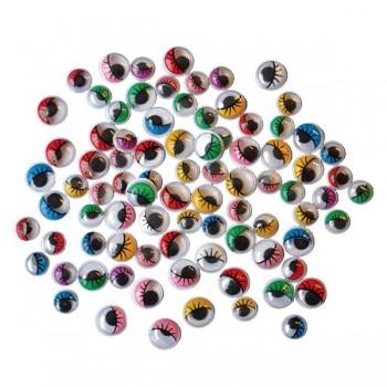 Kolorowe oczka z rzęskami