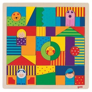 Mozaika z wzorami - postacie