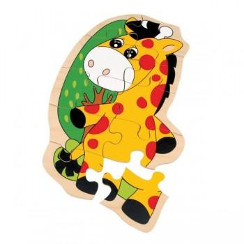 Puzzle drewniane - Żyrafa