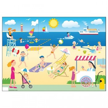 Plansze do opowiadania - Plaża