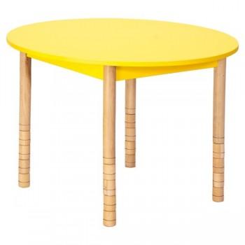 Stoły kolorowe - okrągły - nogi proste