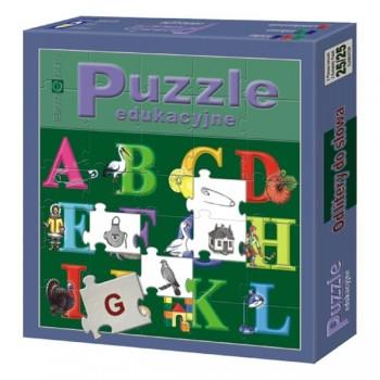 Puzzle edukacyjne - Od litery do słowa