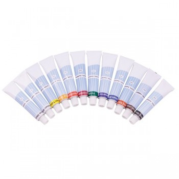 Farby akrylowe w tubkach 12 kol. x 12 ml