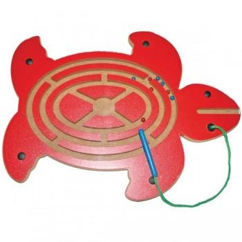 Magnetyczny labirynt  z kuleczkami - żółw