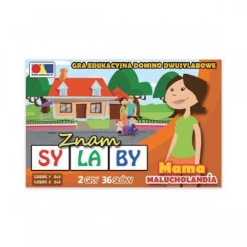 """Gra domino """"Znam sylaby"""" Cz. 1 i 2 - zestaw Mama"""