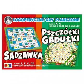 Logopedyczne gry planszowe 2 - 4 graczy - Sadzawka - s, z, c, dz  Pszczółki Gałułki - k, g