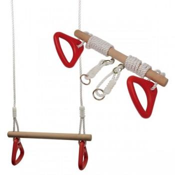 Ringi gimnastyczne z trapezem