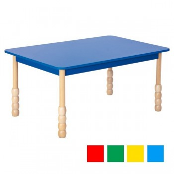 Stoły kolorowe - prostokątny - nogi puca