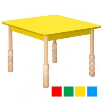 Stoły kolorowe - kwadratowy - nogi puca