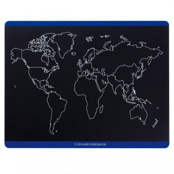 Konturowa mapa Europy i świata