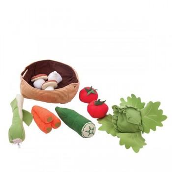 Miękki kosz z warzywami
