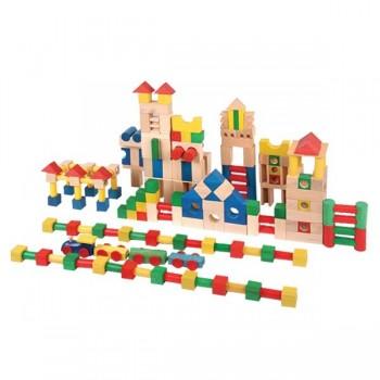 Klocki drewniane konstrukcje - domy