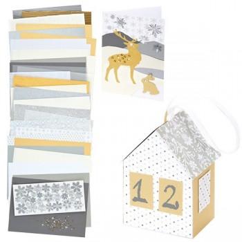 Kreatywny zestaw papierów - Zimowy Czas - 83 elem.