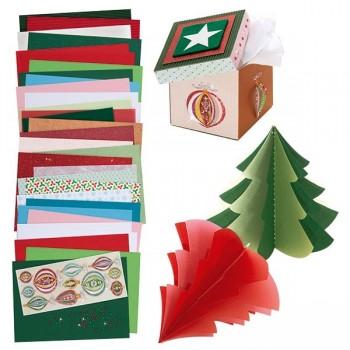 Kreatywny zestaw papierów - Święta - 83 elem.
